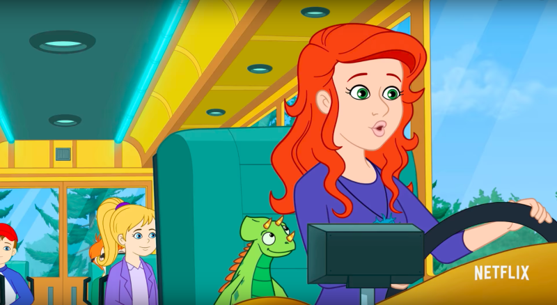 Kate McKinnon voices the new Ms. Frizzle. (Netflix)