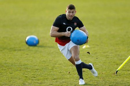Rugby Union - England Training - Bagshot, Britain - February 2, 2018 England's Ben Youngs during training Action Images via Reuters/Andrew Boyers