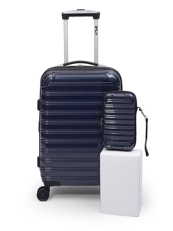 "iFLY Online Exclusive Hard Sided Luggage Fibertech 20"" & Travel Case (Photo: Walmart)"