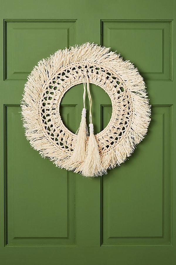 "<p>The bohemian-inspired aesthetic shows no signs of stopping, and that means handmade items, macrame, and woven details are making their way into our holiday decor, too. This wreath is woven with raffia and sisal for a boho twist on the holiday classic. </p> <p><strong>To buy: </strong>$68, <a href=""https://click.linksynergy.com/deeplink?id=93xLBvPhAeE&mid=39789&murl=https%3A%2F%2Fwww.anthropologie.com%2Fshop%2Fmeadow-woven-wreath%3F&u1=RS%2CThese5TrendsWillBeHugeforHoliday2019%25E2%2580%2594AndWeSpottedThemAllatAnthropologie%2Ckholdefehr1271%2CDEC%2CIMA%2C682400%2C201910%2CI"" target=""_blank"">anthropologie.com</a>. </p>"