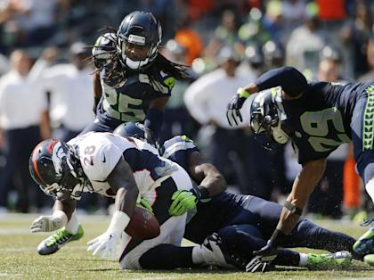 Montee Ball's rushing woes and fumble hurt Denver's chances on Sunday. (USA TODAY Sports)