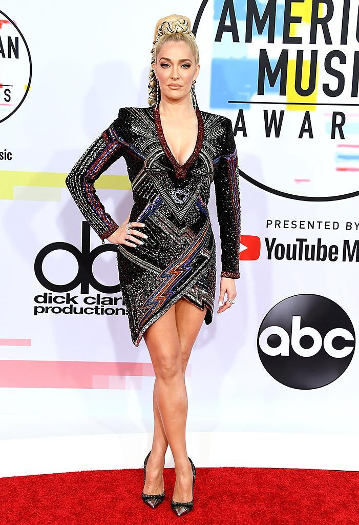 <p>Erika Jayne attends the 2018 American Music Awards at Microsoft Theater on Oct. 9, 2018, in Los Angeles. (Photo: Steve Granitz/WireImage) </p>