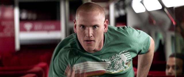 Spencer Stone in a scene from <em>The 15:17 to Paris</em>. (Photo: Warner Bros. Pictures via AP)