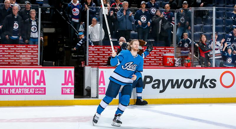 Kyle Connor is rolling and someone you should be trying to add in your Yahoo fantasy hockey league. (Getty Images)