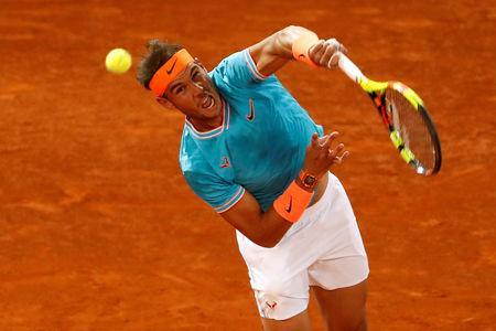 Tennis - ATP 1000 - Madrid Open - The Caja Magica, Madrid, Spain - May 11, 2019 Spain's Rafael Nadal in action during his semi final match against Greece's Stefanos Tsitsipas REUTERS/Susana Vera