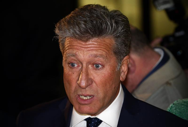 LONDON, ENGLAND - DECEMBER 14: Former DJ Neil Fox addresses the media as he leaves after being cleared of all charges in his trial at the City of Westminster Magistrates Court on December 14, 2015 in London, England. Mr Fox was cleared of 10 separate charges which had been alleged to have taken place between 1988 and 2014. (Photo by Carl Court/Getty Images)
