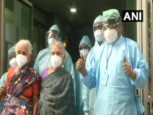 A 4-year old woman and her 71-year-old daughter were discharged from a hospital in Chennai after recovering from COVID-19.