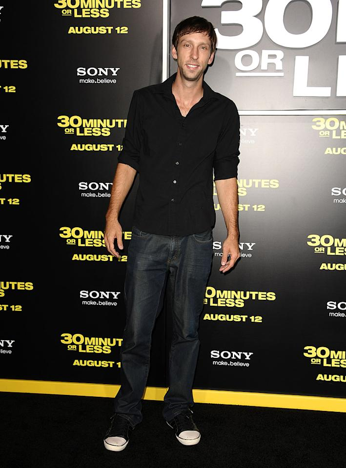 "<a href=""http://movies.yahoo.com/movie/contributor/1808537119"">Joel David Moore</a> at the Los Angeles premiere of <a href=""http://movies.yahoo.com/movie/1810160427/info"">30 Minutes or Less</a> on August 8, 2011."