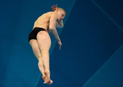 Russia's llya Zakharov competes in the men's 3m springboard final