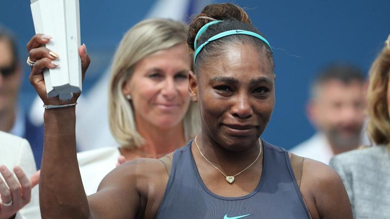 Serena Williams Breaks Down in Tears After Retiring From Rogers Cup Final Match Due to Injury