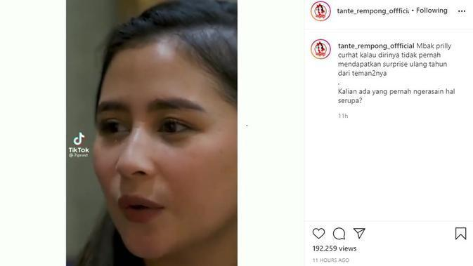 Prilly Latuconsina (Foto: Instagram/@tante_rempong_official)