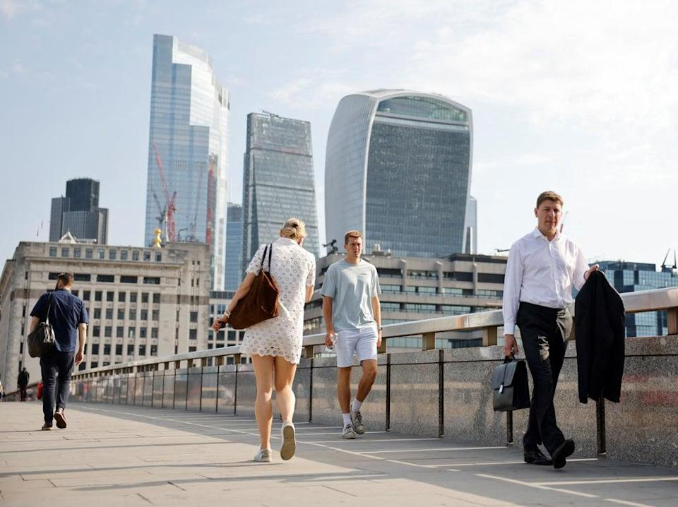 Three quarters of employers expect to allow hybrid working as staff return (AFP via Getty)