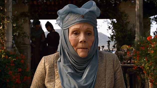 "Diana Rigg as Olenna Tyrell in ""Game of Thrones."""