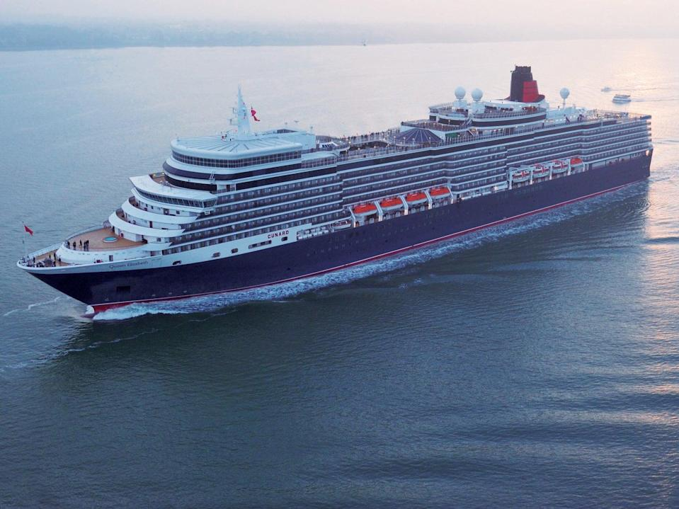Sailing by: Cunard's Queen Elizabeth will operate 13 UK voyages in the summer (Steve Dunlop)