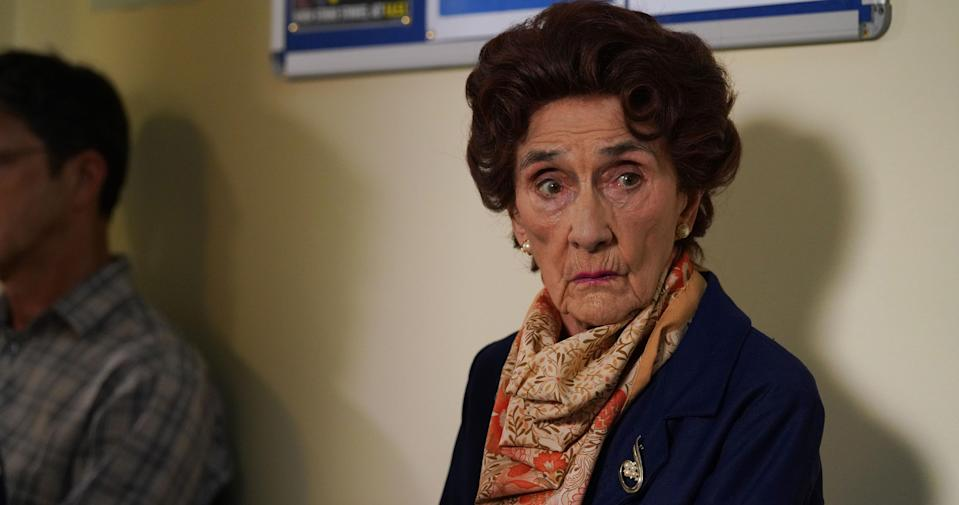 Dot anxiously awaits her GP appointment in next week's EastEnders (BBC Pictures).