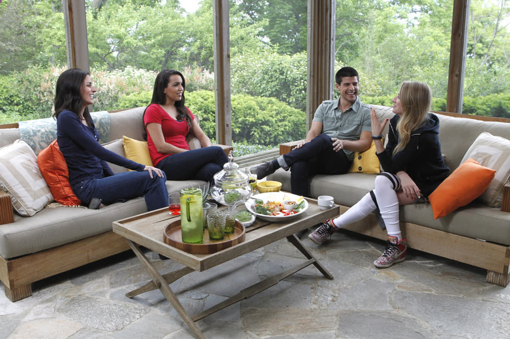 "Rachel Harley, Libby Lopez, and April Francis chat with host Alex Miranda on the new reality series ""3."""