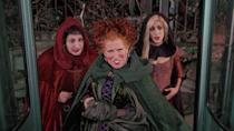 <p> Silly, always rewatchable, and a story that will make you cackle long after the witching hour has passed. Hocus Pocus features three witchy sisters (played by Bette Midler, Sarah Jessica Parker, and Kathy Najimy) attempting to feast on humans so they can live forever. What follows is a cauldron's worth of crazy situations, all while the trio toil and trouble their way through joke after joke, riffing on each other all the way. Perfect light Halloween fare. </p>