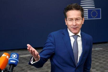 Dutch Finance Minister and Eurogroup President Dijsselbloem arrives at EU finance ministers meeting in Brussels