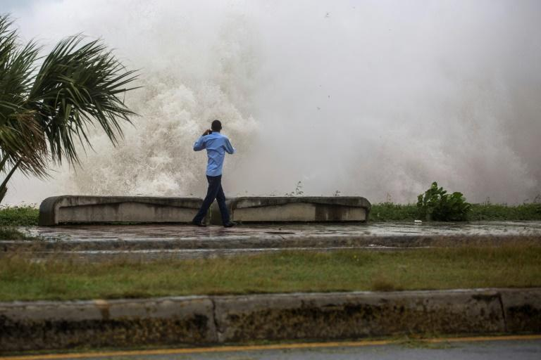 Strong waves battered the coast of the Dominican Republic when Tropical Storm Elsa passed on July 3, 2021