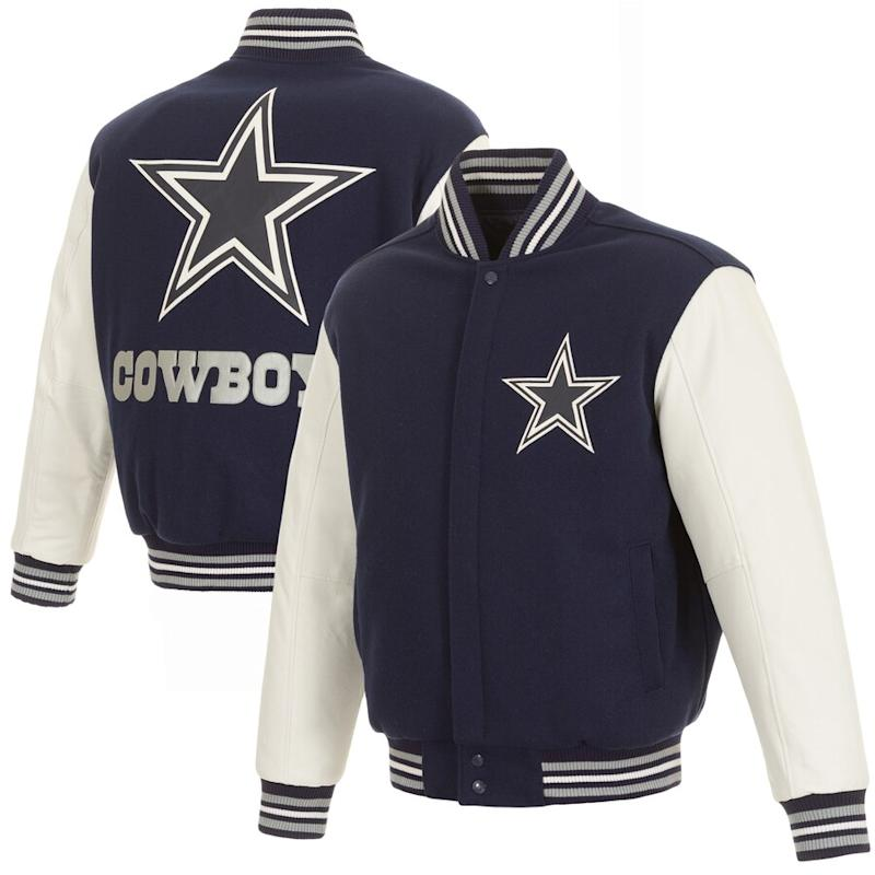 Cowboys Two Tone Wool Leather Jacket