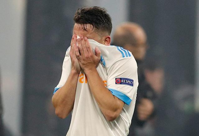 Soccer Football - Europa League Final - Olympique de Marseille vs Atletico Madrid - Groupama Stadium, Lyon, France - May 16, 2018 Marseille's Maxime Lopez looks dejected after the match REUTERS/John Sibley