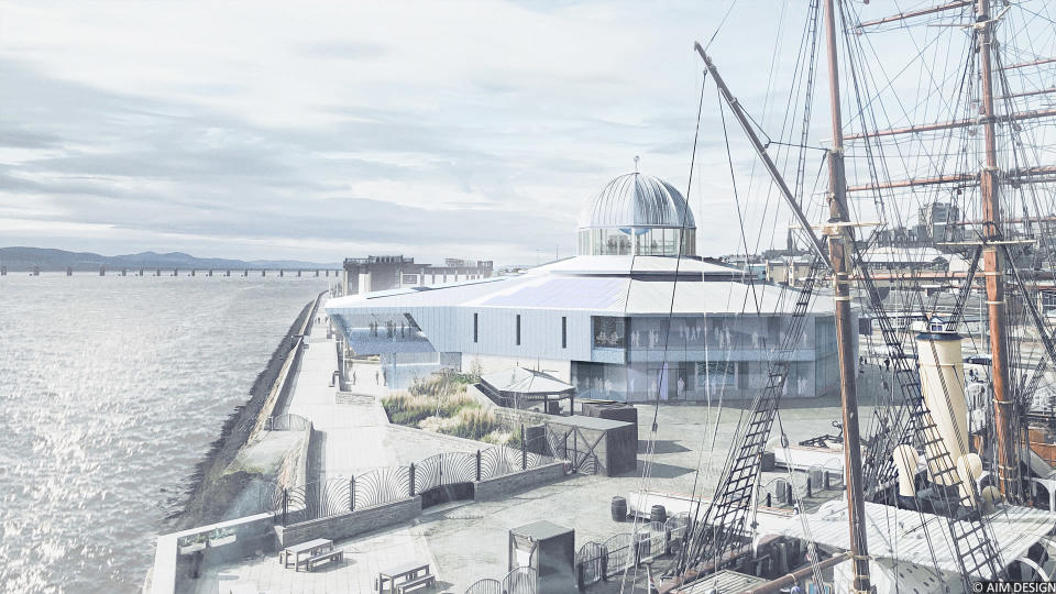 An artist's impression of the new site (AIM Design/PA)