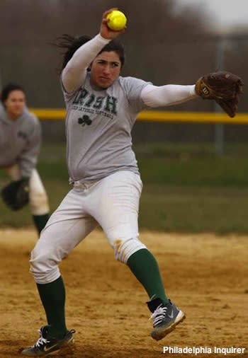 Camden Catholic pitcher Laura Messina