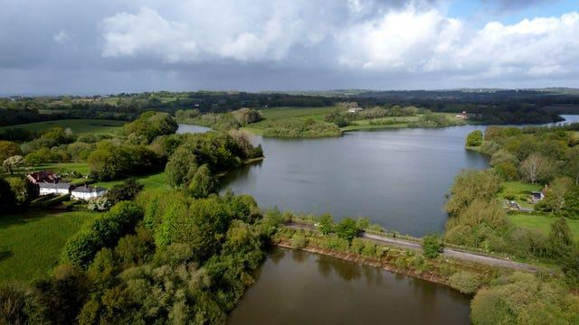 A view of the water level at Bewl Water reservoir near Lamberhurst in Kent which is currently at nearly 90% of its capacity
