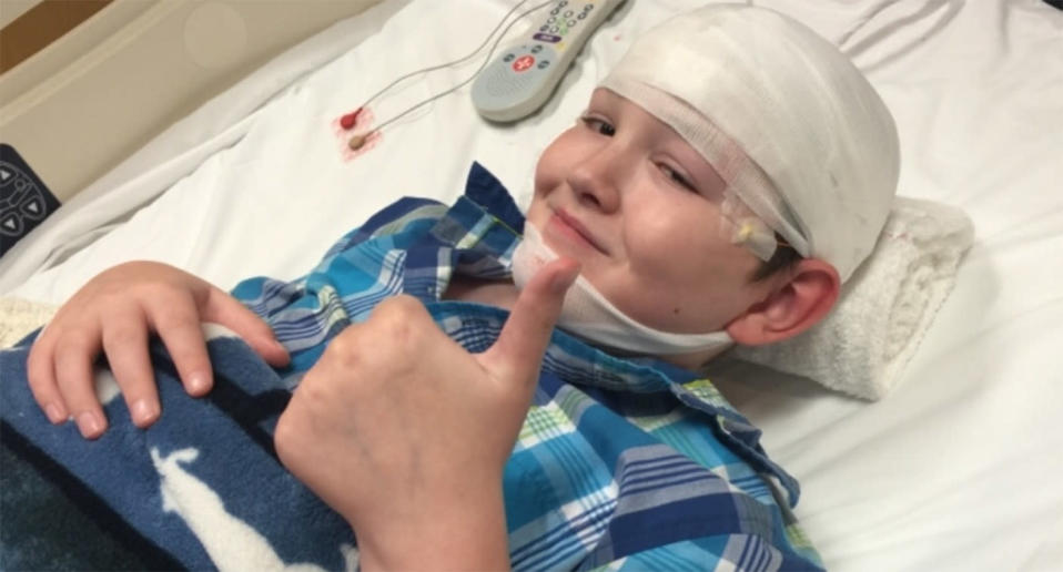 Jaiden Rogers, 12, suffers from 'Stiff Skin Syndrome' and he is one of only 41 documented cases in the world. Source: GoFundMe/Saving Jaiden