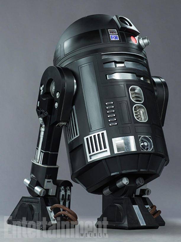"Unless there's a big surprise in store, Rogue One will be the first Star Wars movie without the presence of everybody's favorite bleeping best friend, R2-D2. But that doesn't mean there won't be any of his kind. ""There was a lot of thought given to making changes to the R2 units while staying within the protocol of what's been established,"" says Scanlan. The C2-B5, he continues, ""is a product of that imagination."" As you might guess from the black finish, this droid belongs to the Empire."