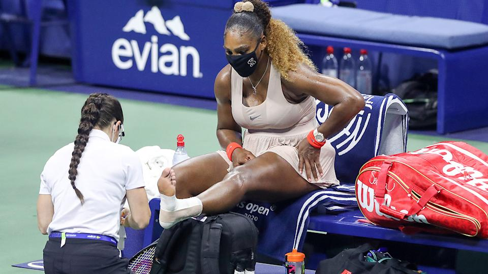 Serena Williams, pictured here during the semi-finals at the US Open.