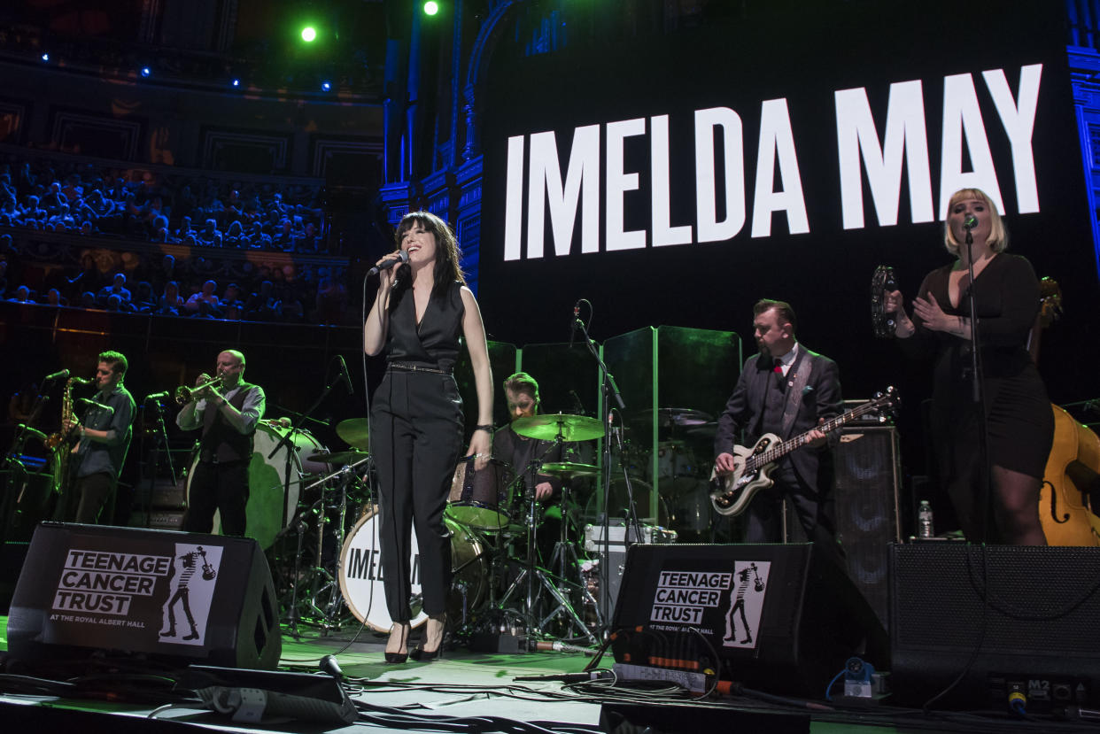 Imelda May performs live on stage for the Teenage Cancer Trust annual concert series at the Royal Albert Hall, London.