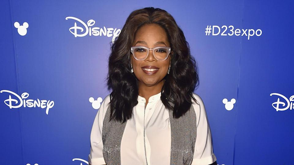 ANAHEIM, CA - JULY 15:  Actor Oprah Winfrey of A WRINKLE IN TIME took part today in the Walt Disney Studios live action presentation at Disney's D23 EXPO 2017 in Anaheim, Calif.