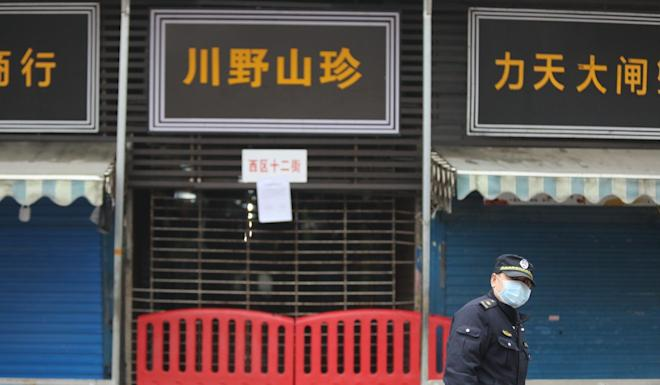 The market in Wuhan at the centre of the health scare. Photo: Simon Song