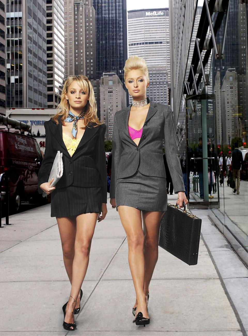 <p>Clearly these two mean business in these blazers.</p>