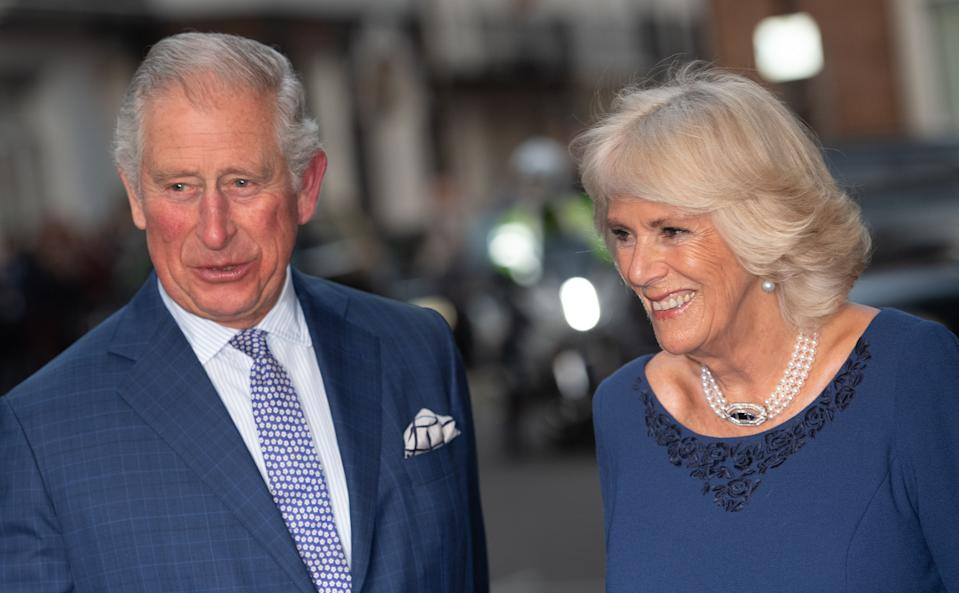 LONDON, ENGLAND - NOVEMBER 14: Prince Charles, Prince of Wales and Camilla, Duchess of Cornwall attend an Age UK Tea on the day Prince Charles celebrates his 70th birthday at Spencer House on November 14, 2018 in London, England. (Photo by Mark Cuthbert/UK Press via Getty Images)
