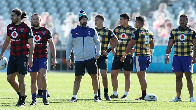 Pictured here, the Warriors training at their Terrigal base in NSW.