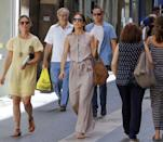 <p>For a vacation in Mallorca, Spain, she's chosen a simple, no-frills maxi dress.</p>