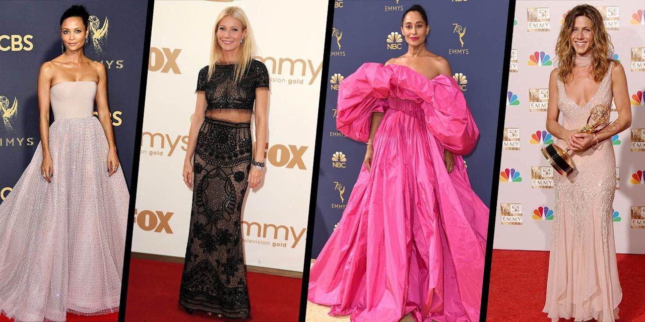<p>As the 2020 Emmys takes place in a virtual capacity - with no audience, no red carpet and remote acceptance speeches - we can think of no better time to indulge in a little nostalgia and look back at some of the best and most memorable Emmys fashion moments in the history of the awards ceremony. From Jennifer Aniston in vintage Dior, to Blake Lively in red hot Versace, and Sarah Jessica Parker in ultra-feminine Chanel, here are 10 of our all-time favourite Emmys red carpet looks. </p>