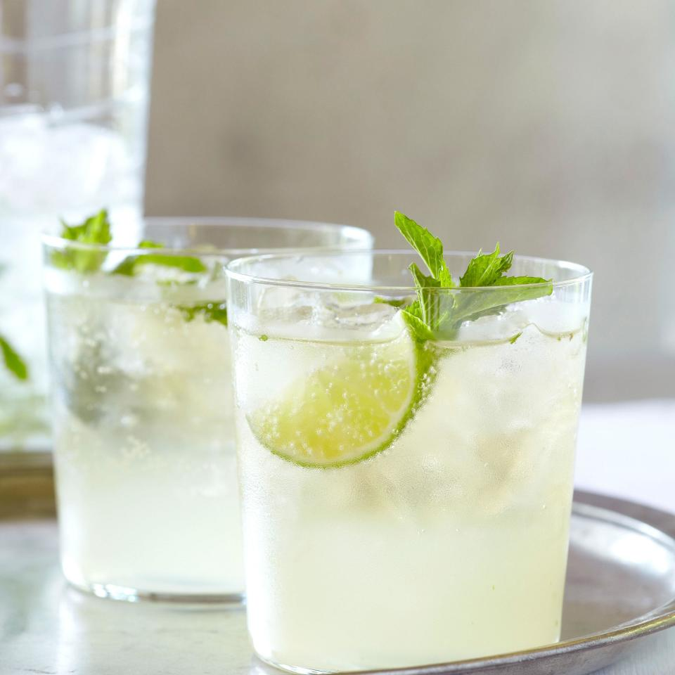 """Mojito, but make it with sparkling wine. The mint and lime keep it bright and fresh. <a href=""""https://www.epicurious.com/recipes/food/views/chandon-brut-mojito-361529?mbid=synd_yahoo_rss"""" rel=""""nofollow noopener"""" target=""""_blank"""" data-ylk=""""slk:See recipe."""" class=""""link rapid-noclick-resp"""">See recipe.</a>"""