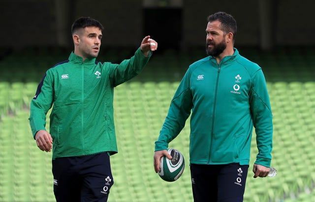 Conor Murray, left, has been recalled by Andy Farrell