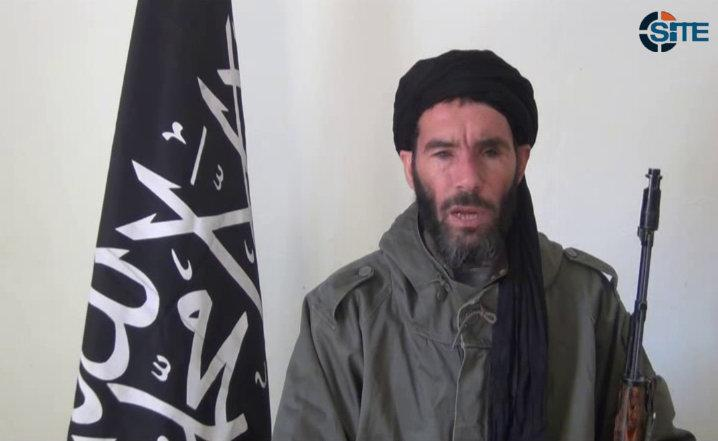 FILE - This undated file image taken from video provided by the SITE Intel Group made available Thursday Jan. 17, 2013, purports to show terrorist leader Moktar Belmoktar. In an Oct. 3 internal al-Qaida letter found by the AP, Belmoktar is excoriated for his unwillingness to follow orders and critiqued for his failure to carry out any large attack. His ego bruised, he quit and formed his own group to compete directly with his former employer. Within months, he claimed responsibility for two attacks so large they rivaled the biggest operations undertaken by al-Qaida's wing on the continent.(AP Photo/SITE Intel Group, File) THE ASSOCIATED PRESS HAS NO WAY OF INDEPENDENTLY VERIFYING THE CONTENT, LOCATION OR DATE OF THIS PICTURE. MANDATORY CREDIT: SITE Intel Group