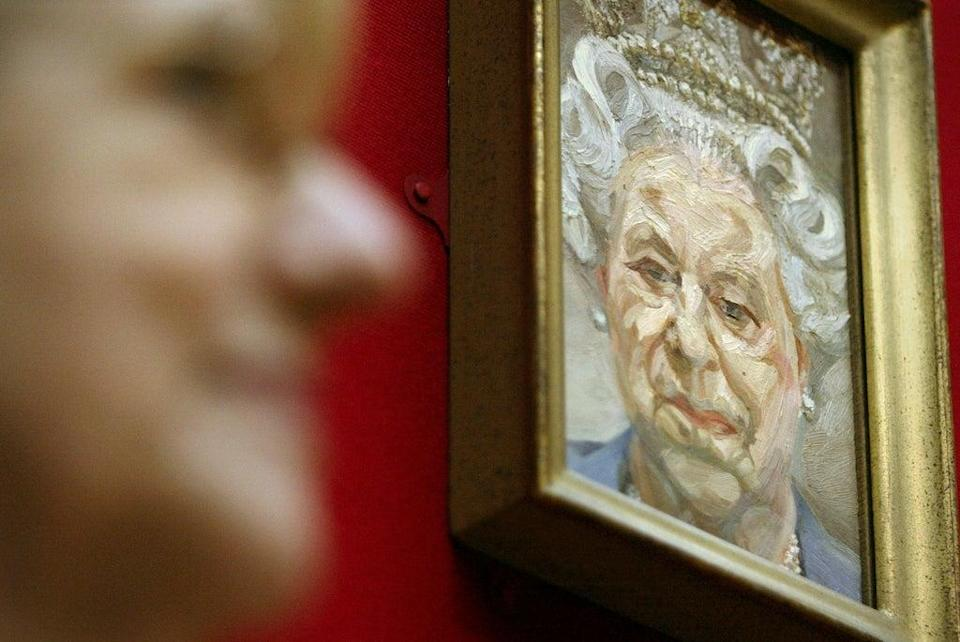 Portrait of the Queen by British artist Lucian Freud  (Getty Images)