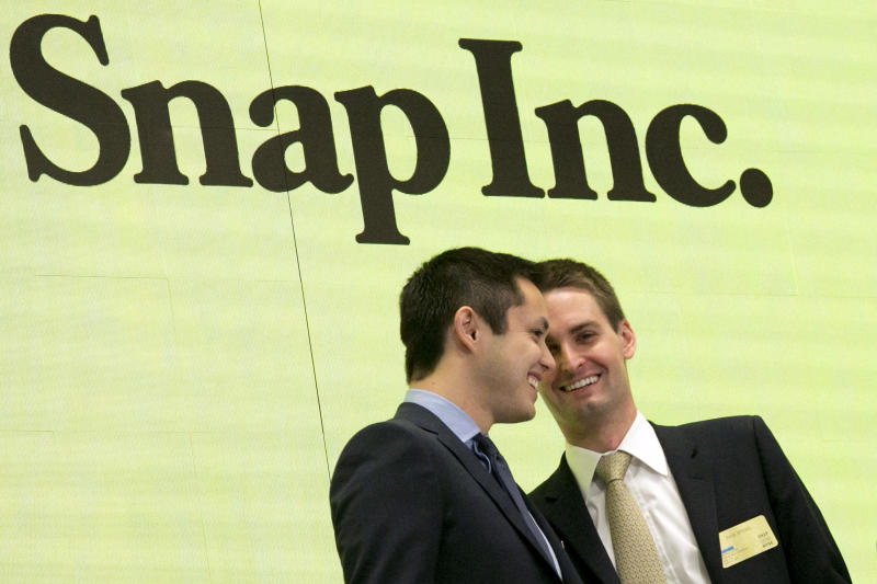 Snapchat parent company reports £1.7bn loss in first earnings report