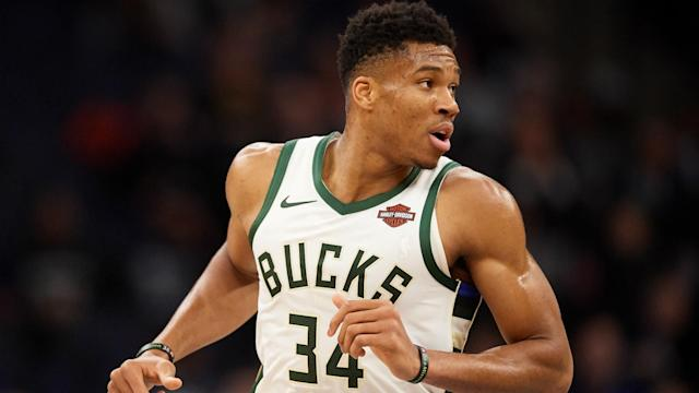 Giannis Antetokounmpo posted a double-double in the Milwaukee Bucks' 110-101 win over the Orlando Magic on Monday.