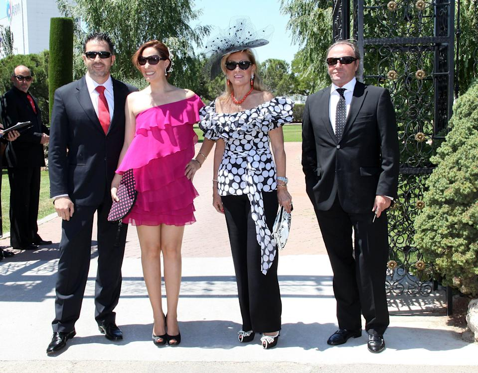 ALCALA DE HENARES, SPAIN - JUNE 24: Andres Fernandez, Rosario Mohedano, Rosa Benito and Amador Mohedano attend Tamara Gorro and Ezequiel Garay's wedding on June 24, 2012 in Alcala de Henares, Spain.  (Photo by Europa Press/Europa Press via Getty Images)