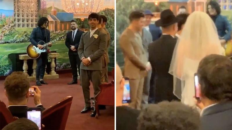 Some moments from the low-key wedding were shared online. Photo: Instagram/dilpo