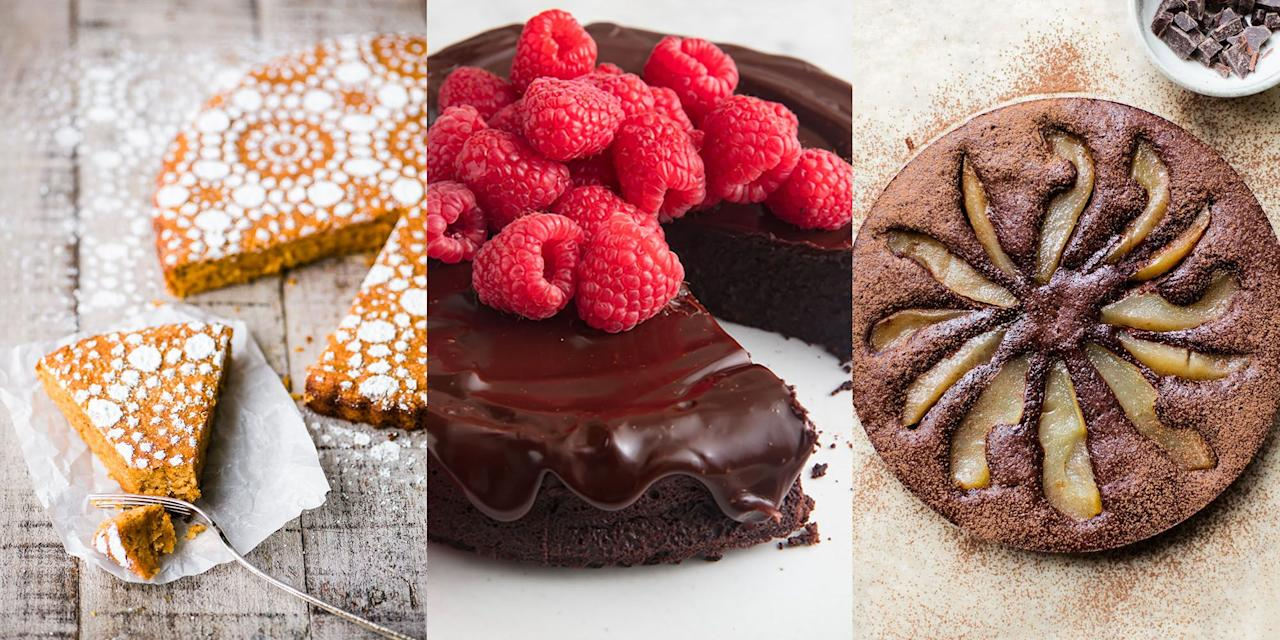 """<p>If you're looking for a flourless cake recipe that's actually worthwhile, then we've got you covered. Whether that's a <a href=""""https://www.delish.com/cooking/recipe-ideas/a19473626/best-flourless-chocolate-cake-recipe/"""" target=""""_blank"""">Flourless Chocolate Cake</a>, <a href=""""https://www.delish.com/uk/cooking/recipes/a30868188/easy-gluten-free-cheesecake-recipe/"""" target=""""_blank"""">Gluten Free Cheesecake</a> or <a href=""""https://theviewfromgreatisland.com/"""" target=""""_blank"""">Flourless Pumpkin Spice Cake</a>, there's a number of ways you can enjoy the likes of a delicious cake, but without the flour. </p>"""