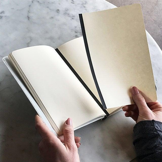 """<h2>Charles Good-Man Magnetic Notebook</h2><br><strong>Under $50</strong><br>Your dad is never without his trusty notebook, which often sheds loose notes. Help him stay a little more organized with a magnetic notebook that boasts removable pages that can be re-arranged with ease.<br> <br><em>Shop journals and stationery at <strong><a href=""""https://www.uncommongoods.com/home-garden/office/journals-stationery"""" rel=""""nofollow noopener"""" target=""""_blank"""" data-ylk=""""slk:Uncommon Goods"""" class=""""link rapid-noclick-resp"""">Uncommon Goods</a></strong></em><br><br><strong>Charles Good-Man</strong> Magnetic Notebook, $, available at <a href=""""https://go.skimresources.com/?id=30283X879131&url=https%3A%2F%2Fwww.uncommongoods.com%2Fproduct%2Fmagnetic-notebook%23487780000000"""" rel=""""nofollow noopener"""" target=""""_blank"""" data-ylk=""""slk:Uncommon Goods"""" class=""""link rapid-noclick-resp"""">Uncommon Goods</a>"""