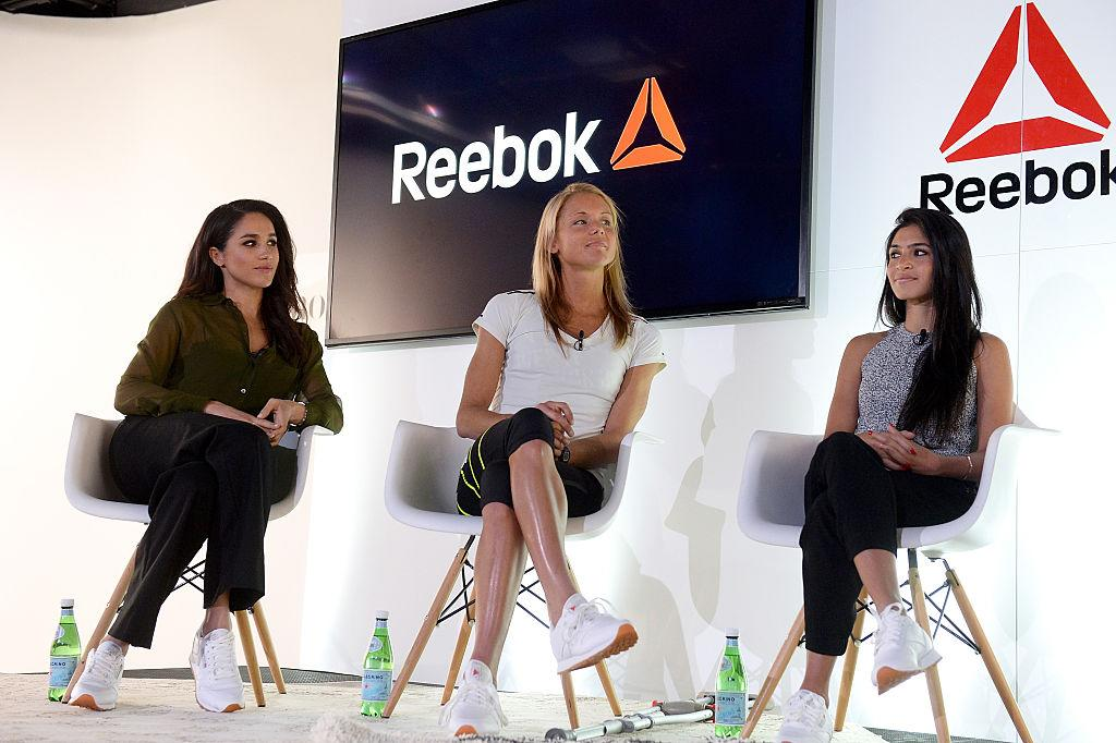 <p>Who knew Meghan could sport athleisure so well? On 28 April 2016, the former actress joined forces with Amelia Boone and Payal Kadakia on a panel for Reebok's 'Honour Your Days' event. <em>[Photo: Getty]</em> </p>